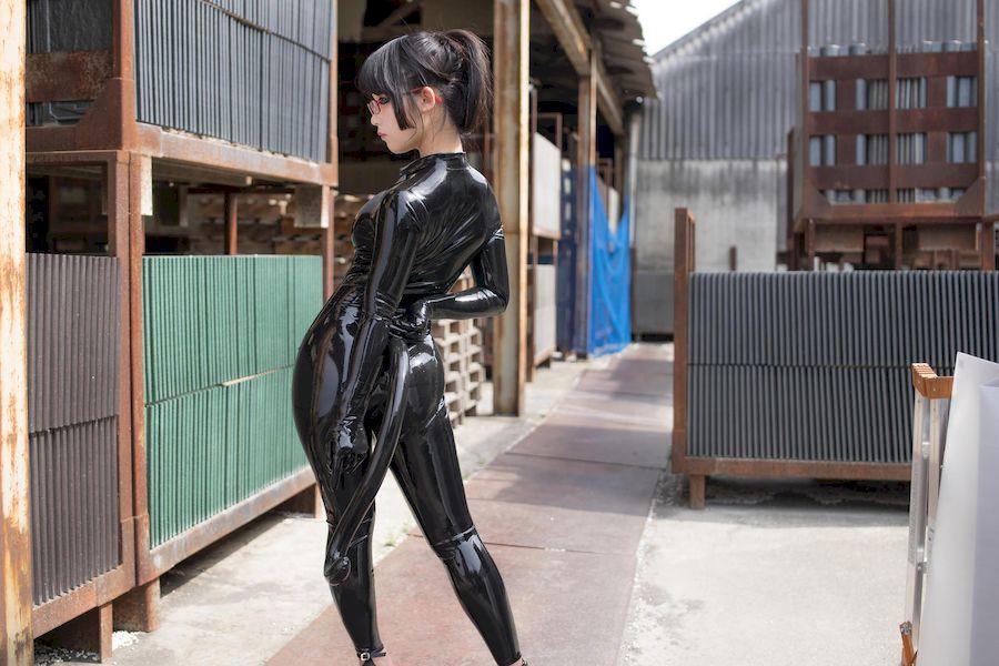 Eri Kitami北見えり(北见绘里)乳胶衣Cosplay猫女郎「四」