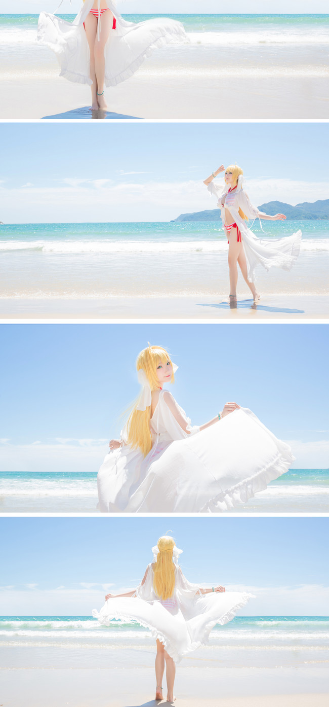 《Fate/Grand Order》Cosplay 尼禄·克劳狄乌斯 夏日海滩泳装!