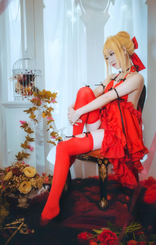 【Fate/Extra】Cosplay 尼禄·克劳狄乌斯 尼禄睡衣特典!