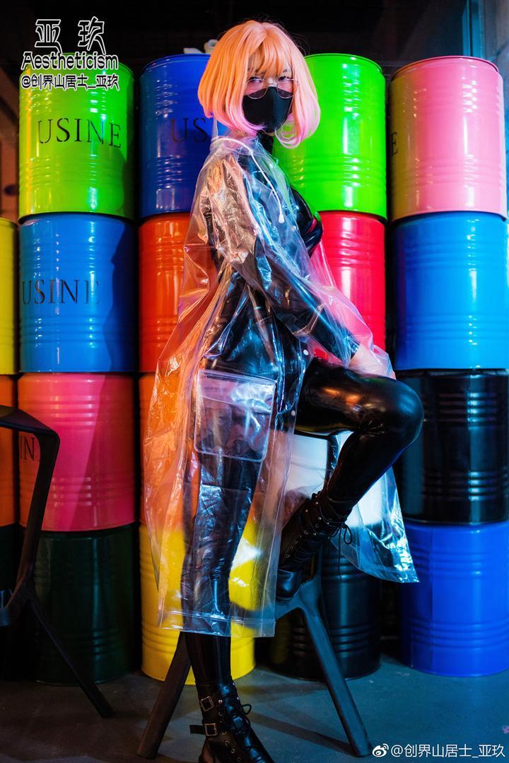 《境界的彼方》栗山未来 乳胶衣一直带口罩 Coplay 下部!