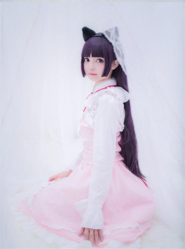 《我的妹妹哪有这么可爱!》Cosplay 五更琉璃  粉色lolita!