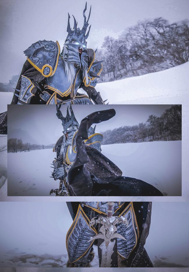 《魔兽世界》Cosplay 巫妖王阿尔萨斯 冰霜战士们,苏醒吧!