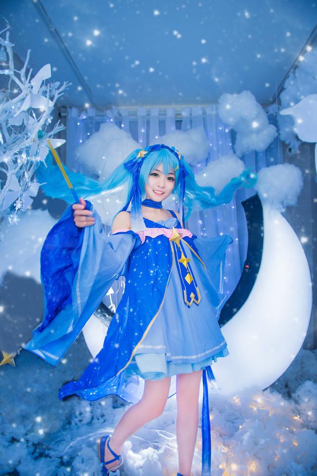《Vsinger》Cosplay初音未来 星与雪的公主!
